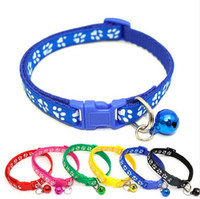 Easy Wear Cat Dog Collar With Bell Adjustable Buckle Dog Col...