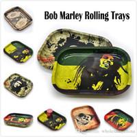 Bob Marley Rolling Tray Metall Kräuter rollt Trays Rauchen Reisende Größe 18 cm * 14 cm * 1.5cm Handroller Herb Werkzeug Werkzeuge Kostenloses Schiff