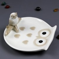 Creative modern simplicity white porcelain owl soap Box home...