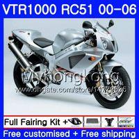 Kit für HONDA VTR1000 RC51 SP1 SP2 00 01 02 03 04 05 06 Silber glänzend 257HM.20 RTV1000 VTR 1000 2000 2001 2002 2003 2004 2005 2006