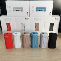 Original Yocan Uni Pro 배터리 키트 Vape Box Mods 650mAh 예열 VV 배터리 카트리지 구멍 조정 가능한 510 카트리지 E 담배