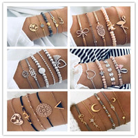 Mix Designs Bohemian Charm Bracelets Set For Women Men Vinta...