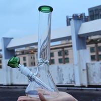 Толстый стакан со стеклянной трубкой для бонга 10 дюймов розовый зеленый пьянящий стакан