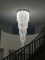 Lampadario di cristallo moderno a 5 strati con lampadari di lusso a LED