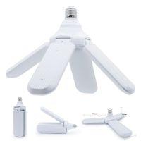110-265V E27 LED-Birne Faltbare Lüfter-Blade-Birne 30W 45W 60W LED-Lampe Superhellweiß 6500k für Innenausstattung Deckenleuchte