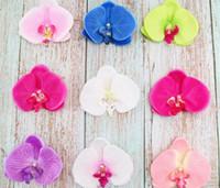 Papillon Artificielle Orchidée Fleur 9 * 10cm À La Main Phalaenopsis Têtes De Fleurs Pour La Voiture De Mariage Décoration de La Maison DIY Flores