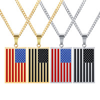 Collana creatività tag di personalità American Flag Man Military Pendant