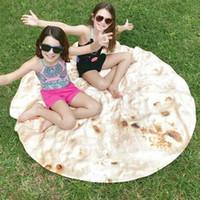 المكسيكي التورتيا جولة منشفة الشاطئ جولة burrito التفاف بطانية رقيق الألياف مناشف لشاطئ النساء حمام منشفة اليوغا نزهة حصيرة