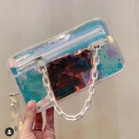 Uomini di alta qualità Designer Borse a tracolla Laser Flash Borsa in PVC Moda Arcobaleno Trasparente Borse a tracolla Portafoglio Piccola borsa Tote Bag