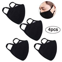 Anti-Staub Wiederverwendbare 2 Lagen Baumwollgewebe Baumwolle Mund-Gesichtsmasken Mundschutz für Mann und Frau Radfahren