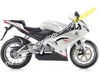 Para Aprilia Motorcycle Kit RS125 2006 2007 2009 2010 2010 2011 RS 125 RS-125 BLANCO BLANCO BLANCO ABS BORDARIO DE PAQUETE DE PAQUETE (Moldeo por inyección)