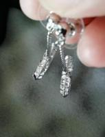 Moda markası pulları elmas tasarımcı küpe lady kadınlar için parti için düğün severler hediye nişan lüks takı kutusu ile gelin