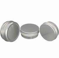 50 ml 50g Aluminium-Verpackungsflaschen Tins Container Runde Schraube Deckelbehälter Gläser Metall Lagerung Blechdosen Lebensmittel Schwarz Rosa Gold Aluminium