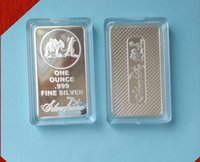 Free Shipping 1Oz Bar Silver By Ounce Troy SilverTowne Bullion Silver Plated Brass Core Bar non magentic silver bar