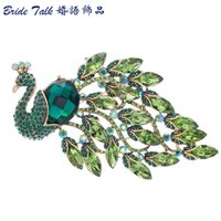 fashion Nouveau Fashion Party Jewelry Peacock Vintage Crysta...