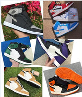 1 Court Purple 1s Pine Green Chicago 1 Top Quality UNC Powder Blue 1s Clay Green 1 OG Shadow Backboard frantumato Pine Green