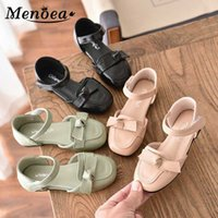 Menoea 27-36 Kids Girls Spring Shoes New Summer Girl Casual Fashion Sandals Autumn Princess Shoes Bowtie Sweet Leather