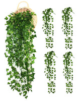 4 Bunchs Artificial vines Home Garden Wall Decoration Fake H...