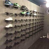 Metalloberwand Schuhe Display Racks Winkeleinstellung Schuhstützhalterungen Mit Antiskid Gummiauflage Ständer