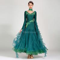 Vestido de salón de balones de alta calidad para mujer para mujer Falda de baile de la competencia de la competencia de flamenco Spandex Lycra estándar en venta
