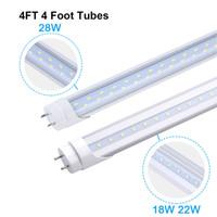 4 발 LED 조명 튜브 전구 T8 4FT G13 바이 핀 전구 18W 22W 28W 형광등 교체 램프 듀얼 엔드 강화 된 조명