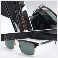 Nova marca de moda de luxo Designer Mens Retro Vintage Ladies Sunglass Top Quality Folding Óculos Mulheres Luxo designer óculos 3102