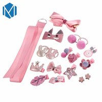 18pcs sets Kids Children Flower Crown Hair Accessories Bowkn...