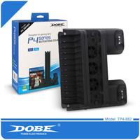 DOBE Dock Charger Ventola di raffreddamento per PS4 PS4 Slim PS4 PRO, dispositivo di raffreddamento Disc Shelf Dual Controller Caricabatterie di ricarica per Playstation 16PCS / L