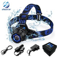 Waterproof LED headlamp rechargeable headlight Q5 LED Rotary...