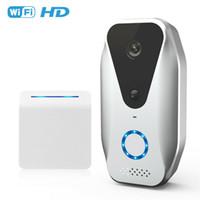 كاميرا HD 1080P واي فاي فيديو لاسلكية الجرس اتجاهين نقاش الذكية جرس الباب الأمن الداخلي المرئي للرؤية الليلية IP