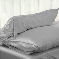 FAROOT satén sedoso Fundas sólida protección Cubiertas de cama Equipada funda de almohada de seda, como Plain Color de almohada