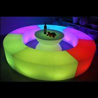 Водонепроницаемый Светящиеся дугообразные змеи стулья сочетание гостиной диван LED бар мебель взрыв моделей, продающих барный стул