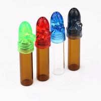 200 Pcs / lot En Verre En Verre Distributeur De Balle Rocket Pill Box Case Snorter Sunff Snorter Sniffer Bong En Verre et Accessoires De Pipe
