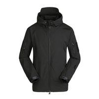 Escudo caliente a prueba de viento chaqueta de paño grueso y suave del invierno de los hombres del deporte al aire de esquí con capucha capa de la chaqueta de los hombres de las chaquetas de invierno Correr Escalada