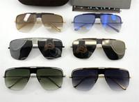 Yeni moda tasarımcısı moda orijinal kutusu ile 0724 kare içi boş yarım çerçeve popüler tarzı basit kalite erkekler açık gözlük güneş gözlüğü