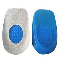 Solette da 1pc Solette in silicone Gel Cuscino del tallone Suole Alleviare Piede Protezioni per il dolore Spaccio Supporto Shoe Pad Piedi Piedi Inserti di cura Nuovo!