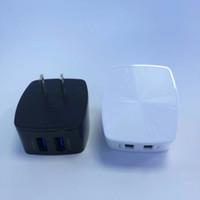 2 USB chargeur mural rapide 5V 2.4A adaptateur secteur de voyage charge rapide pour iPhone 7 8 X Samsung S8 S9 PLUS