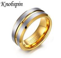 Anelli di tungsteno 8MM degli uomini all'ingrosso dei monili 2017 nuovi anelli di modo anelli del partito degli uomini di disegno della scanalatura Il migliore regalo maschio di alta qualità