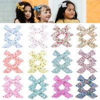 1Set 2Pcs 3. 15 Inch Grosgrain Ribbon Printed Bows With Clips...