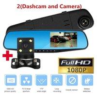HD 1080P voiture Dvr Caméra Auto 4,3 pouces rétroviseur enregistreur vidéo numérique double objectif Registratory Caméscope Car Electronics