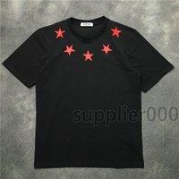 2020 Sommer neueste Luxus-Top-Herren Gebrochene Pentagramme Druck T-Shirt fünf zackiger Stern T-Shirt Baumwoll-T-Shirt lässig Designer T-Shirt beiläufigen oben