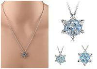 2019 Droppipshiping Moda Kobiety Kryształ Cyrkon Snowflake Wisiorek Naszyjnik Biżuteria Boże Narodzenie Nowy Rok Prezenty BFJ55