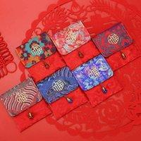 Suerte del Año Nuevo Chino hongbao rojo sobre del dinero de la Red de paquetes bolsa Paño rojo de dinero bolsa de almacenamiento Festival Celebrative decorativo
