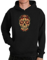 Sugar Skull Diamond Hoodie Day of the Dead Dia De Los Muerto...