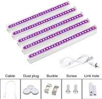 T5 T8 LED wachsen Lichter Bar 6Pcs Full Spectrum Lampen-Schlauch wachsen für Seed Start Indoor Pflanze Blume Blüte Gemüsegarten Licht