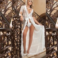 sexy lingerie plus long lace robe nightown M XL XXL 3XL 4XL ...