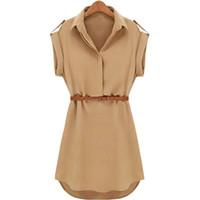 Yaz Elbise Kadınlar Casual Gevşek Kısa Kollu Mini Elbise Kemer Ile Yüksek Kaliteli Vestido Sıcak Satış Yaz Giysileri