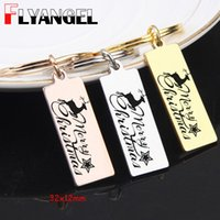 FLYANGEL Christmas Keychain Jewelry Engraved Christmas Fawn ...
