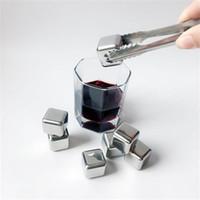 스테인레스 스틸 아이스 큐브 위스키 금속 큐브 레드 와인 스톤 아이스 쿨러 큐브 맥주 바 가정용 웨딩 파티