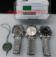3 Stil Luxus 41mm AR Fabrik V2 Version Automatik 2824 ETA Silber Uhren 904L Stahl Jubiläum Armband Männer 126334 Kristall Armbanduhren